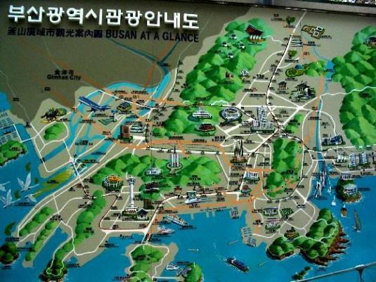Tourist Map of Busan